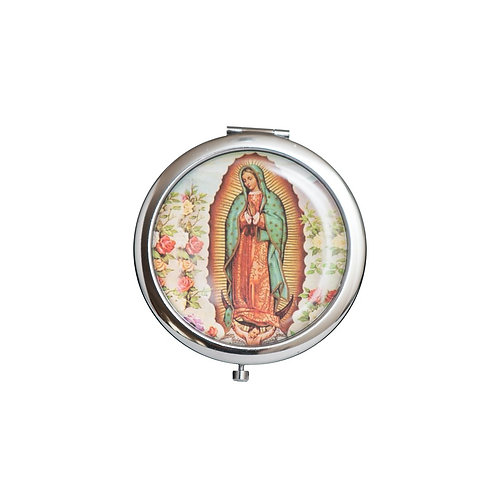 Mirror Compact Gifts-Bautizo Party Favors-Our Lady Guadalupe