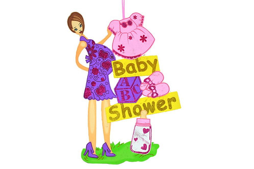Baby Shower Banner-X large Mom To Be Banner Foam Cutouts