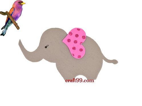 Pink Baby Shower Banner-Elephant Foam-Cutouts