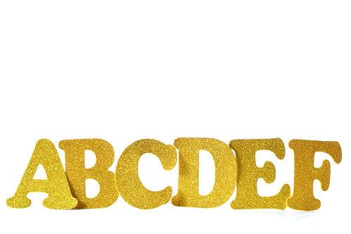 Glitter Foam Letters