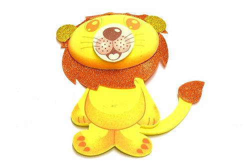 Baby Shower Centerpieces-Large 3D Lion Foam Jungle animals