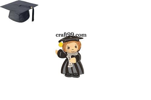 Boy Graduation Party Favors-3D Cap and Gown Foam Cutouts