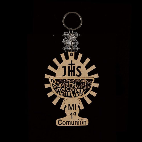First Communion Party Favors-Laser Cut-Wood Keychains