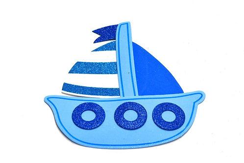 Blue Nautical Baby Shower-Sailboat Cutouts Foam