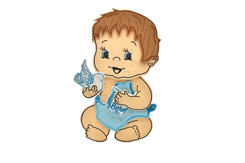 Blue Baby Shower Centerpieces Glitter Foam Milk Bottle