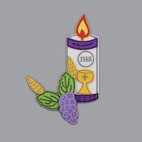 Communion Centerpieces Candle Grape Foam Cutouts