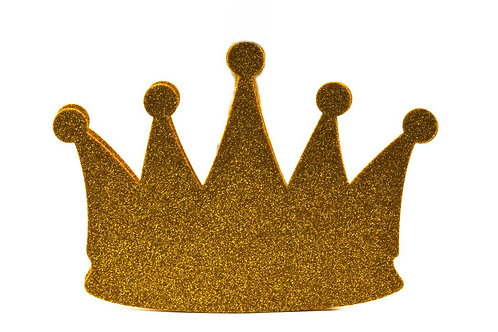 Gold Baby Shower Banner-Prince Glitter Foam Crown