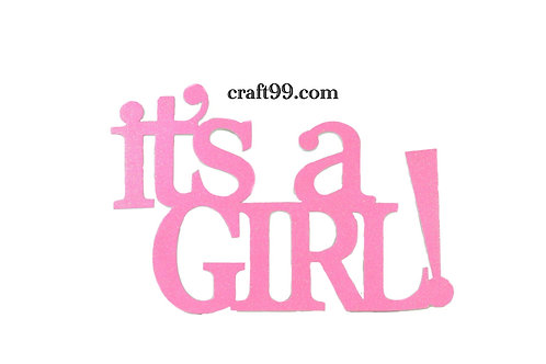 Baby Shower Banner-It's A Girl  Wall Hanging. XXL