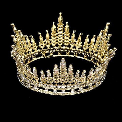 Crown Headpiece-Rhinestone queen Crown Headpiece