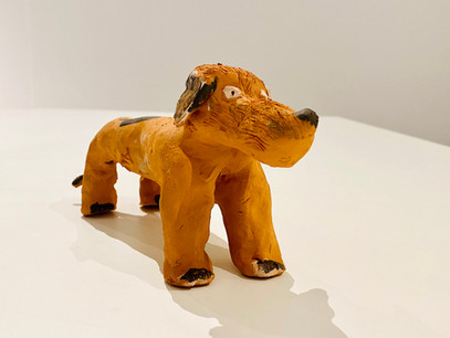I cani (cotti) realizzati durante il pomeriggio dedicato alla ceramica
