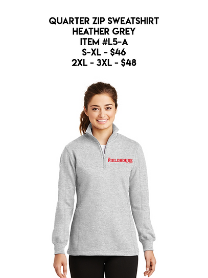 Quarter Zip Sweatshirt Athletic Heather
