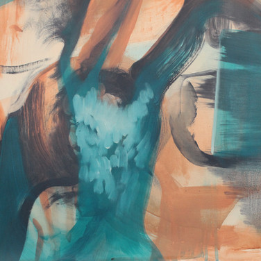 Untitled (Blue Face) detail. SOLD