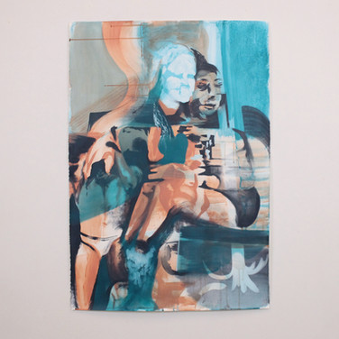 Untitled (Blue Face), SOLD