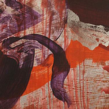 Untitled (Red Walk), detail