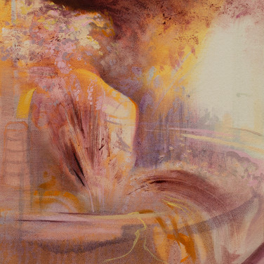 Reflection Study Pink, SOLD