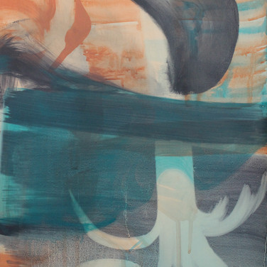 Untitled (Blue Face), detail. SOLD