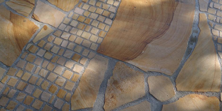 Terrasse Sandstein Wissembourg gelb
