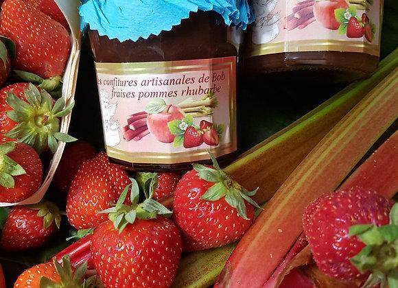 Savoureuse fraise-pomme-rhubarbe