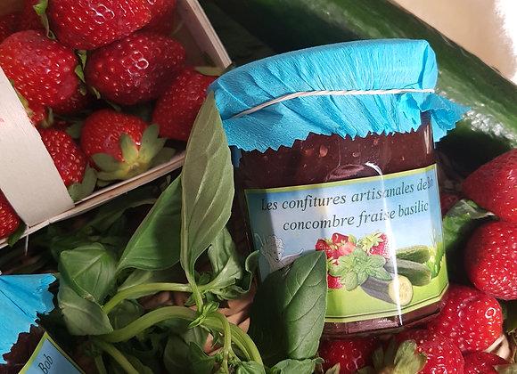 Spécialité concombre-fraise-basilic