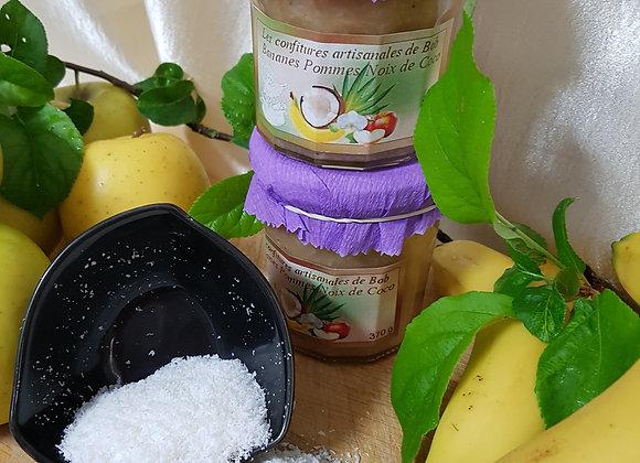 Savoureuse banane-pomme-noix de coco