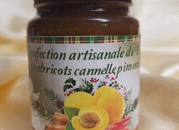 Chutney d'abricots, oignons, cannelle et piment