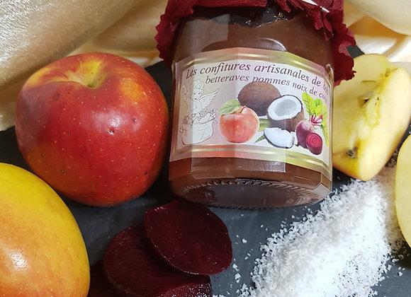 Spécialité betterave-pomme-noix de coco