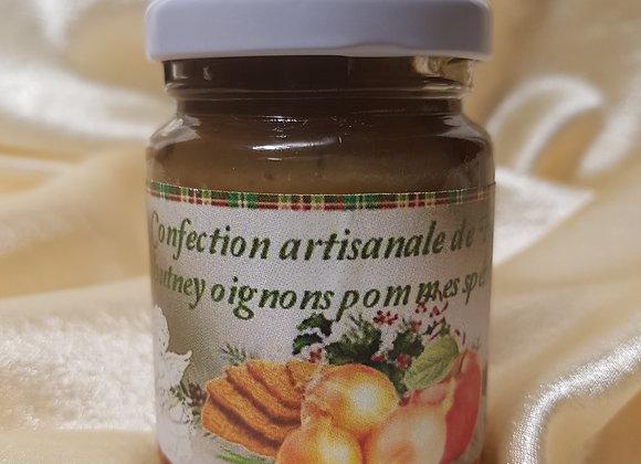 Chutney d'oignon, pomme et spéculoos