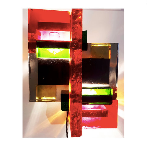 Brutalist Wall Light By Raymond Clercq Roques, France 1970s