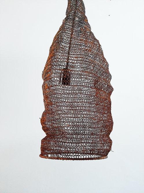 Large Vintage Fish Trap Pendant Lights