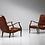 Thumbnail: Italian Lounge chairs by Longhi Ezio, 1950s