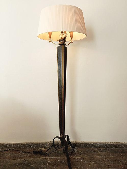 Neoclassical Style Floor Lamp att. Maison Jansen, 1950s