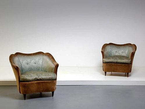 Italian Midcentury Armchairs, Gio Ponti For Casa E Giardino, 1940s