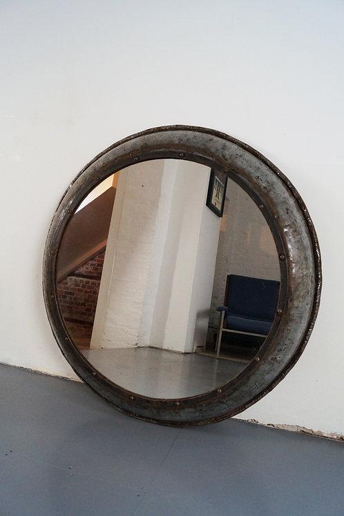 Large vintage Indutrial Mirror, Czech.