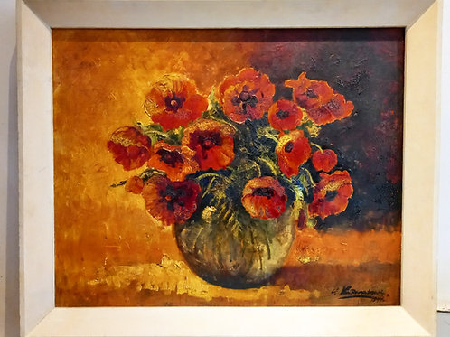 20th Century Oil on Board Impressionist Style