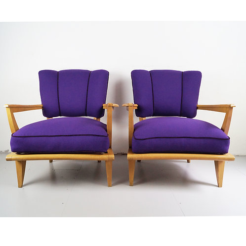 Armchairs by Etienne-Henri Martin model SK250