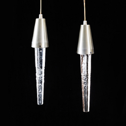 Icicle Pendant Lights, Swedish. 60s