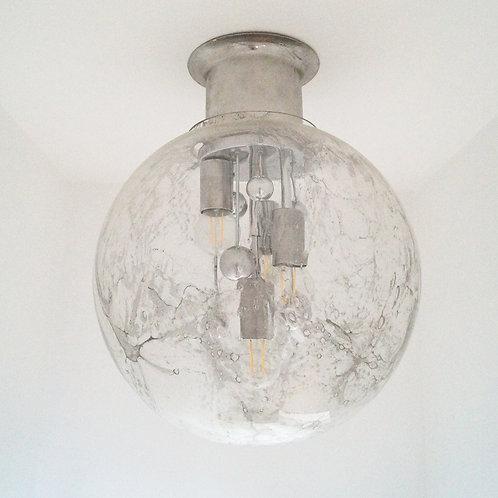 Large Doria Murano Ceiling Light, 1970s