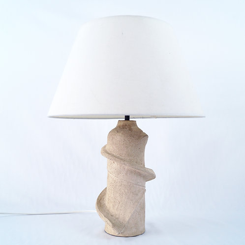 Free form carved Table lamp