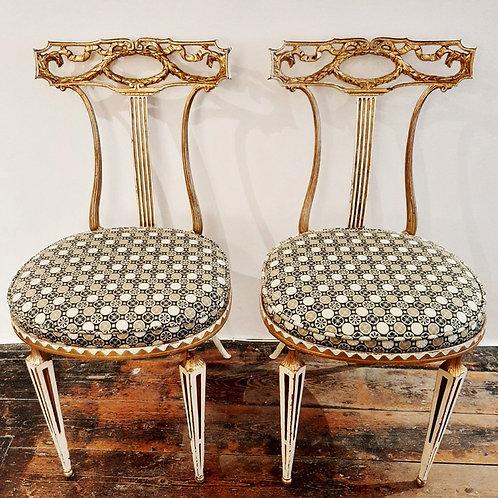 Pair Of Italian Palladio Neoclassical Chairs