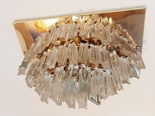 Murano glass flush ceiling light, 70s