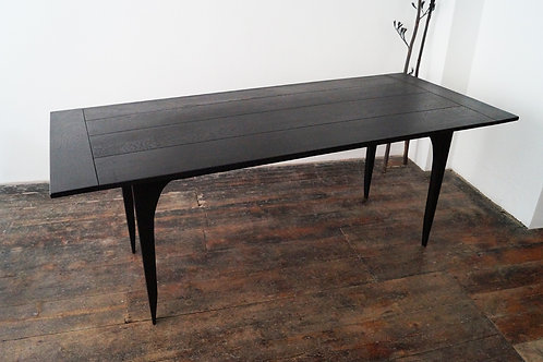 Ebonised ash dining table