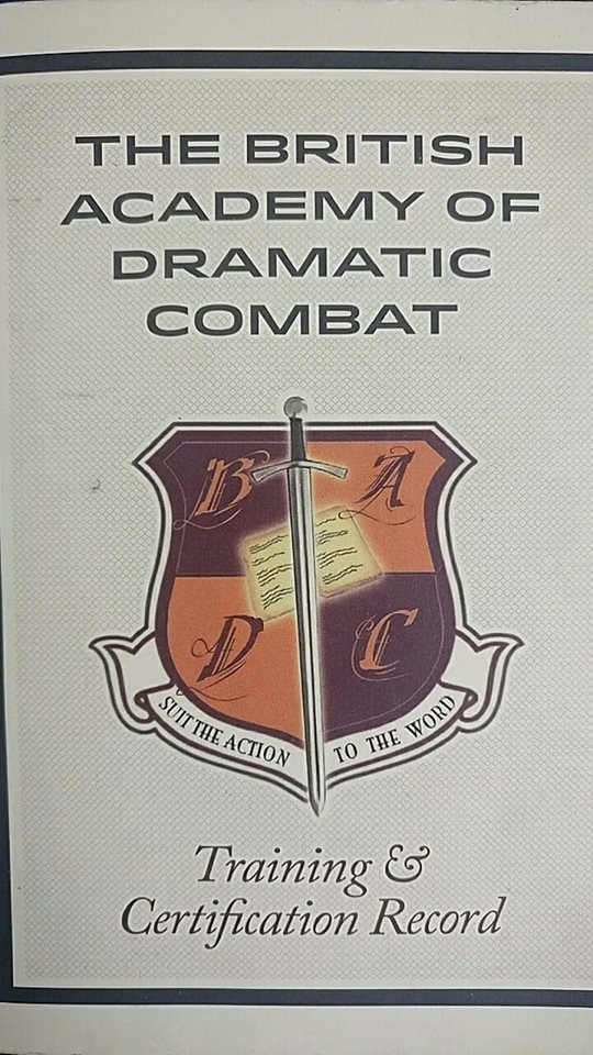 Stage Combat certification