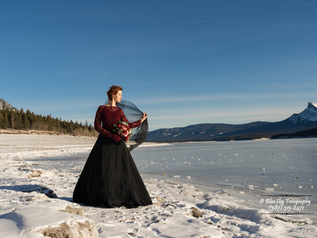 Bridal Portraits at the Abraham Lake - Pt. 1