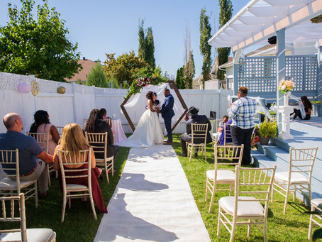 A Lovely Backyard Wedding on a Beautiful Summer Day