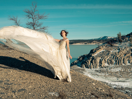 Bridal Portraits at the Abraham Lake - Pt. 2