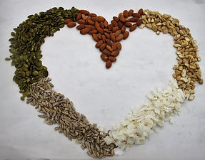nut and seed shape heart