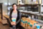 girl holding granola