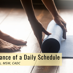 The Importance of a Daily Schedule