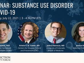 Webinar: Substance Use Disorder & COVID-19