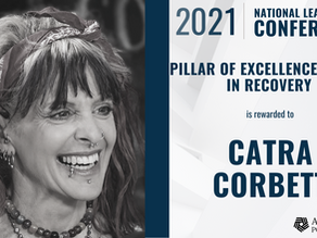 2021 Addiction Policy Forum Pillar of Excellence Award to Catra Corbett